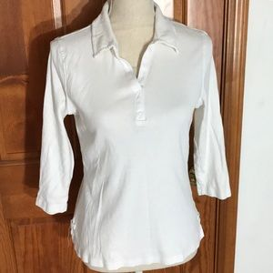 Sonoma White Cotton Stretch Shirt